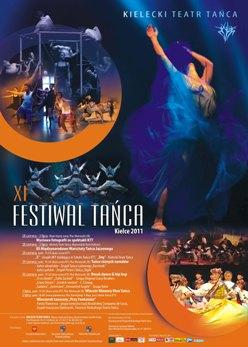 Plakat XI Festiwal Tańca